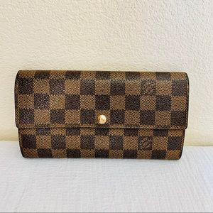 Louis Vuitton long wallet sarah damier brown